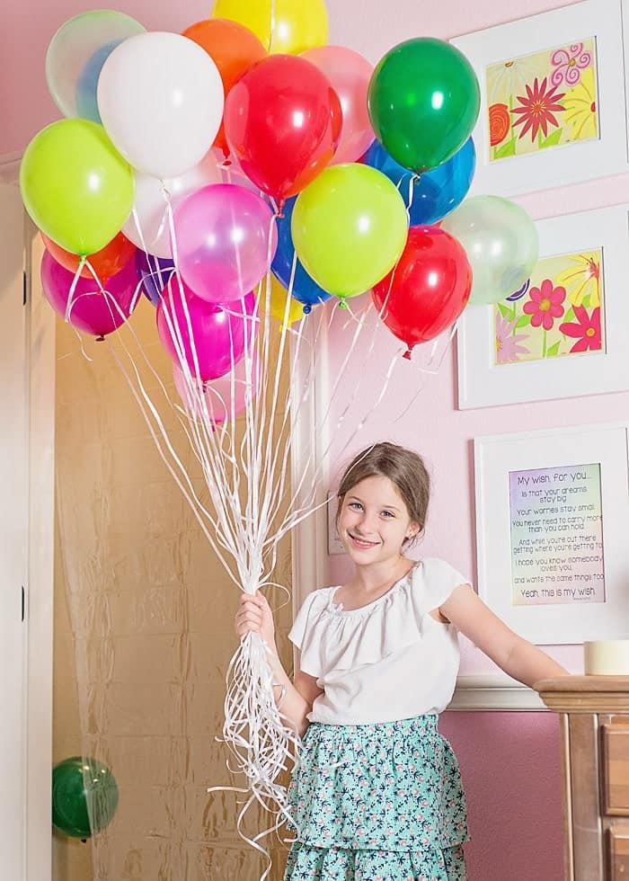 Birthday Balloon Surprise.