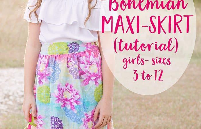 Bohemian Maxi Skirt Tutorial (sz 3 to 12)