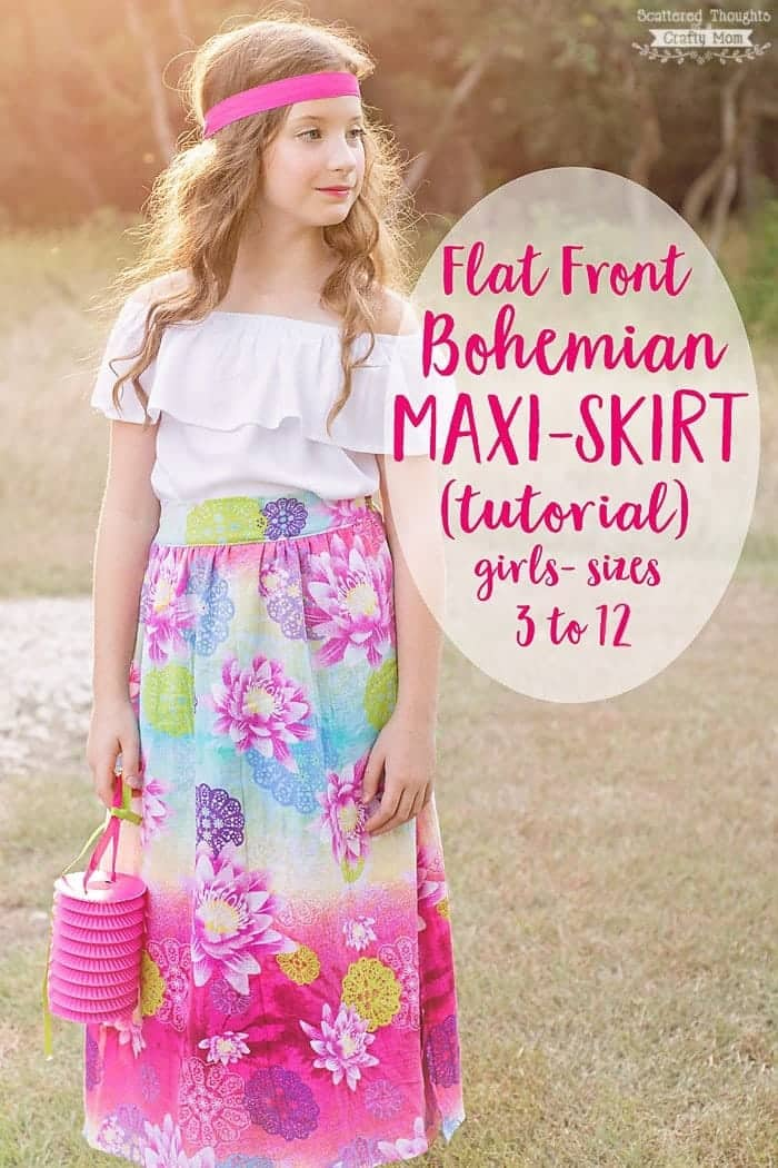 Free Girl's Maxi Shirt Pattern