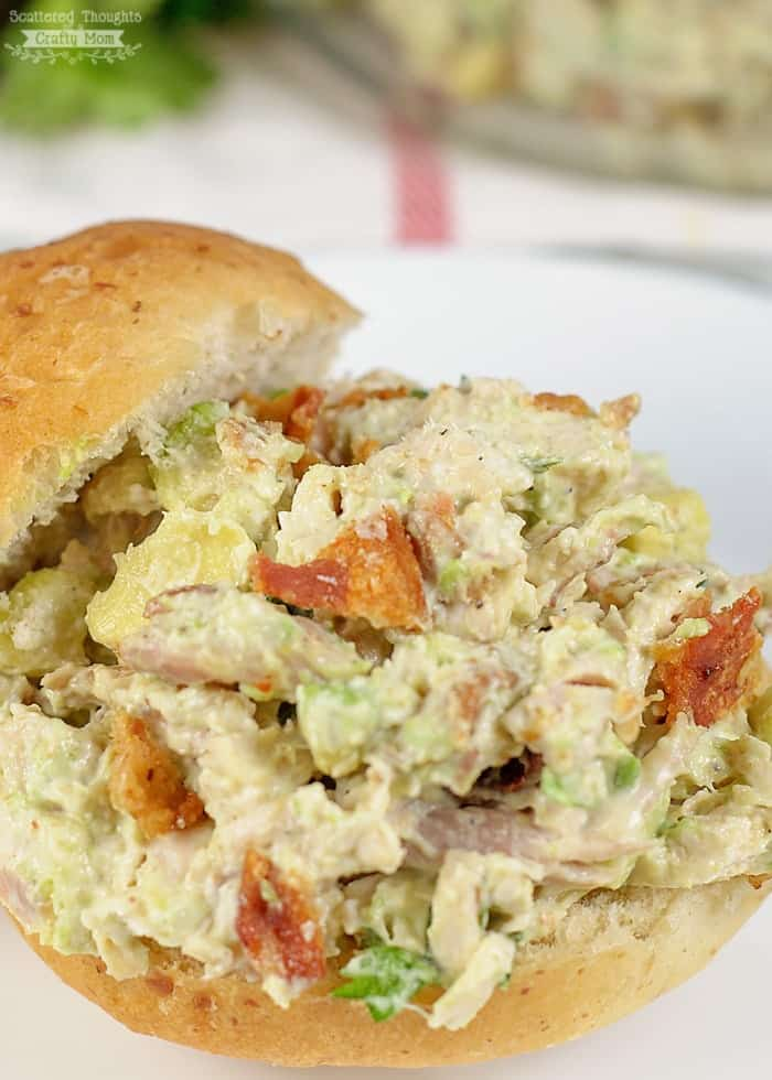 Best chicken salad recipe ever! You've got to try this Avocado and Bacon Chicken Salad.