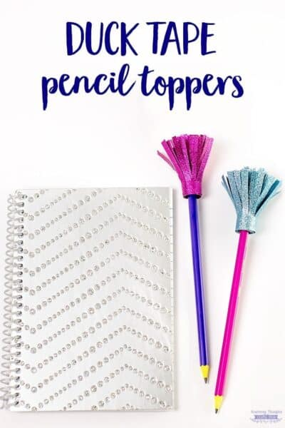 DIY Duck Tape Pencil Toppers