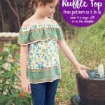 Off-Shoulder Ruffle Top Pattern