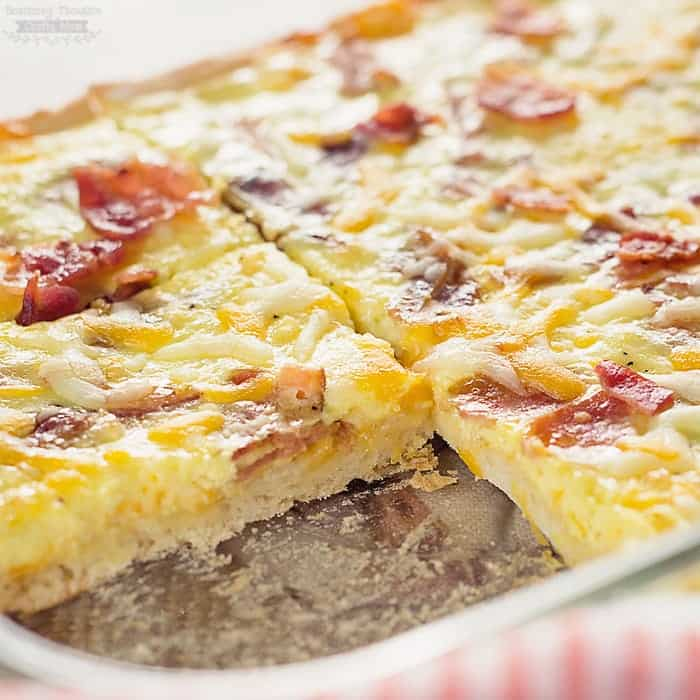 Pizzas With Eggs And Bacon Recipe — Dishmaps