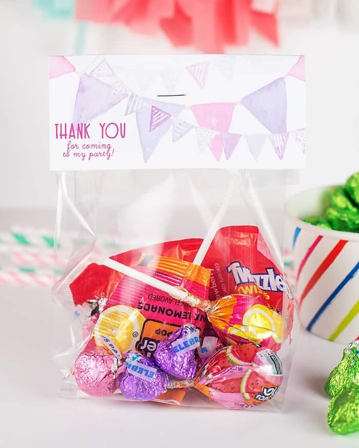 Free Printable Birthday Goodie Bag Toppers!