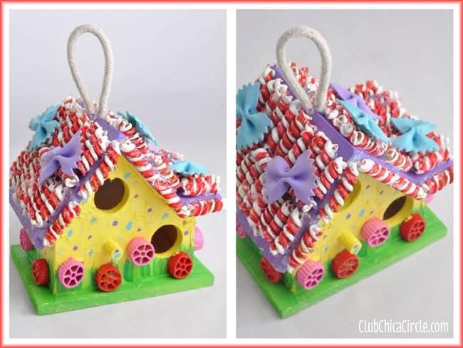 Painted-Pasta-Birdhouse-Craft-Idea-for-Kids