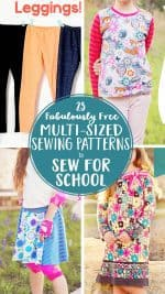 23 Free Multi-sized PDF Sewing Patterns for School