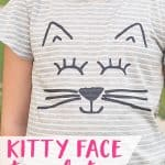 Kitty Face Stencil w/ free template