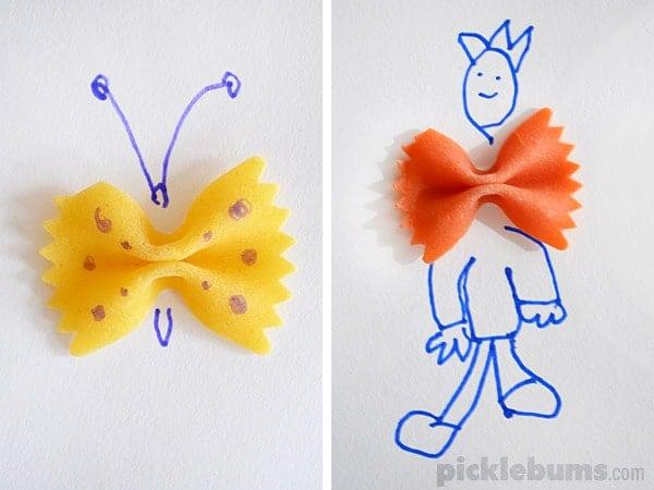 pasta-drawing-bows