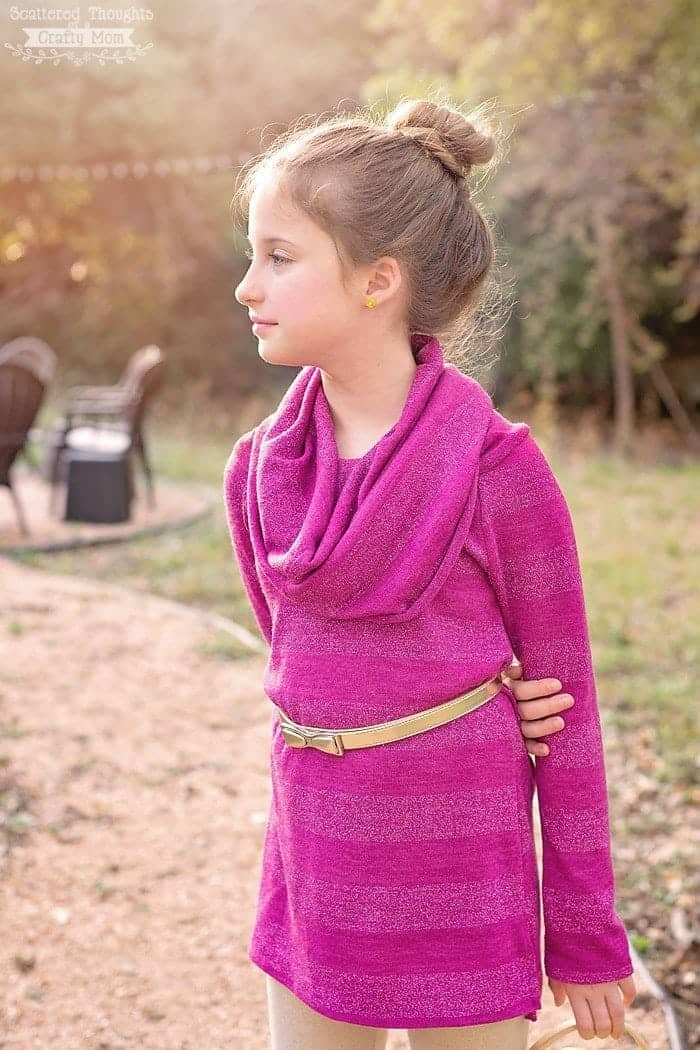 Sew a Girl's Cowl Neck Top