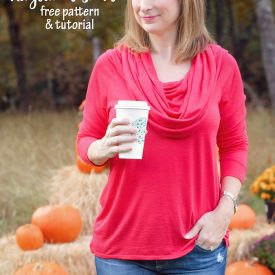 How to Sew a Cowl Neck Top (pattern hack)