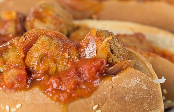 Easy Slow Cooker Meatball Subs
