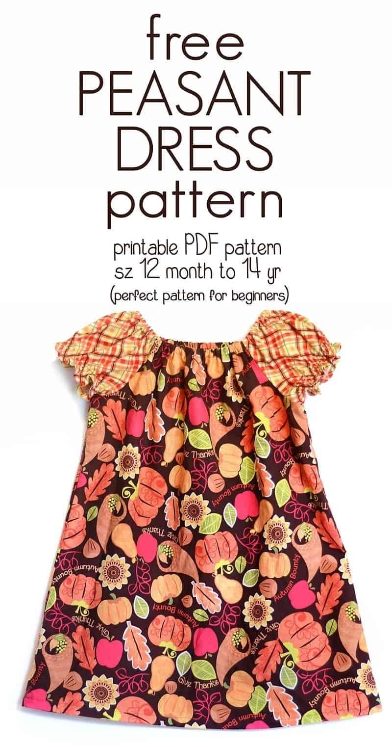 b6d67e1e8463e Learn how to sew a peasant dress With this free peasant dress pattern (size  12