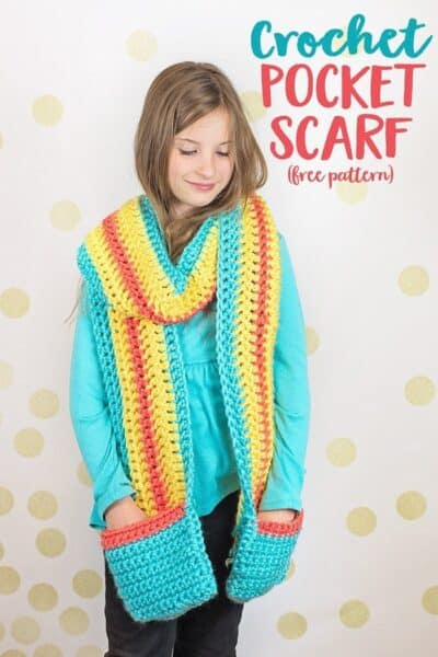 Crochet a Pocket Scarf + free pattern