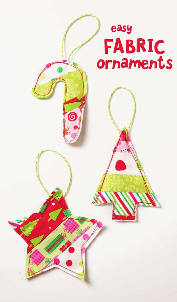 Easy Fabric Ornament Gift Toppers