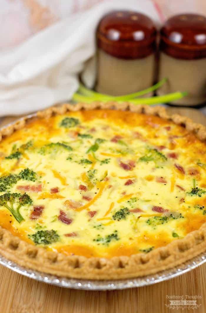 Ham and Broccoli Quiche is a super easy quiche recipe!