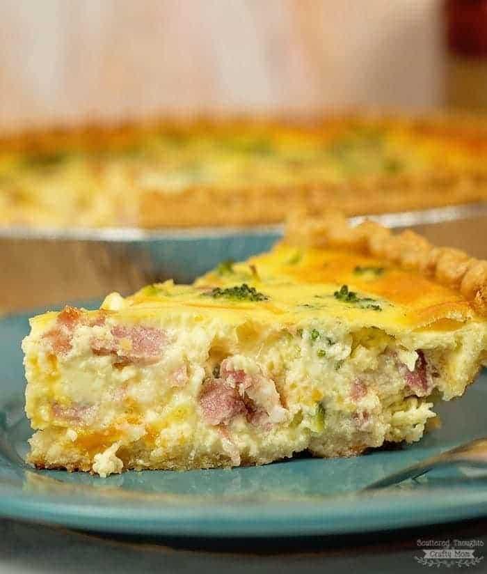 Easy Ham and Broccoli Quiche Recipe