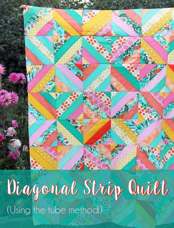 how-to-make-a-diagonal-strips-quilt