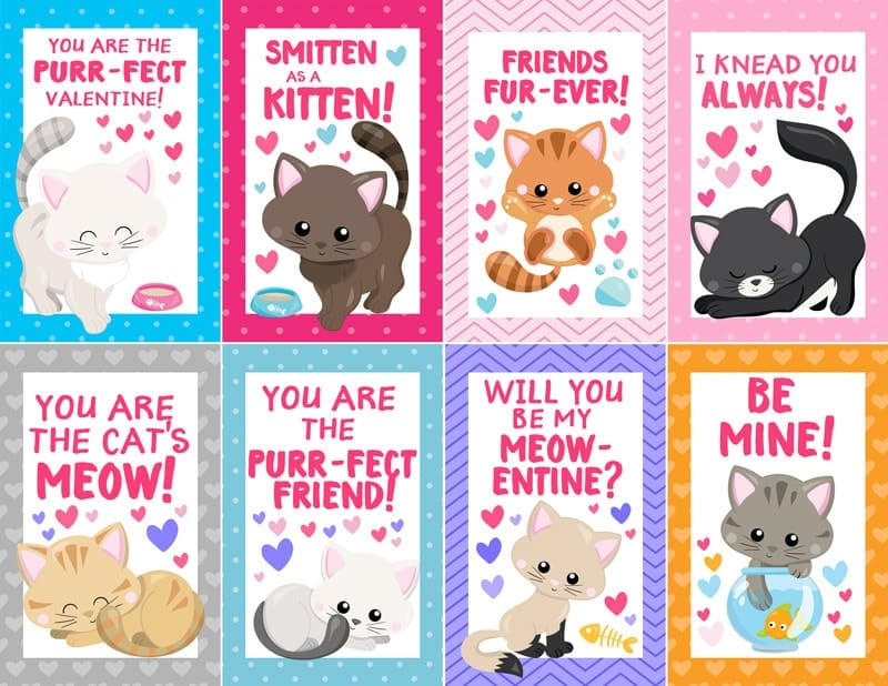 photograph about Printable Kitten Pictures referred to as Totally free Printable Kitten Valentines - Scattered Inquiries of a