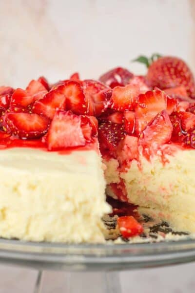 Low Carb / Sugar free Crustless Cheesecake (in the pressure cooker!)