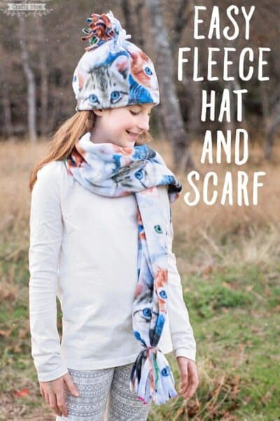 Easiest Fleece Hat and Scarf Set Ever!