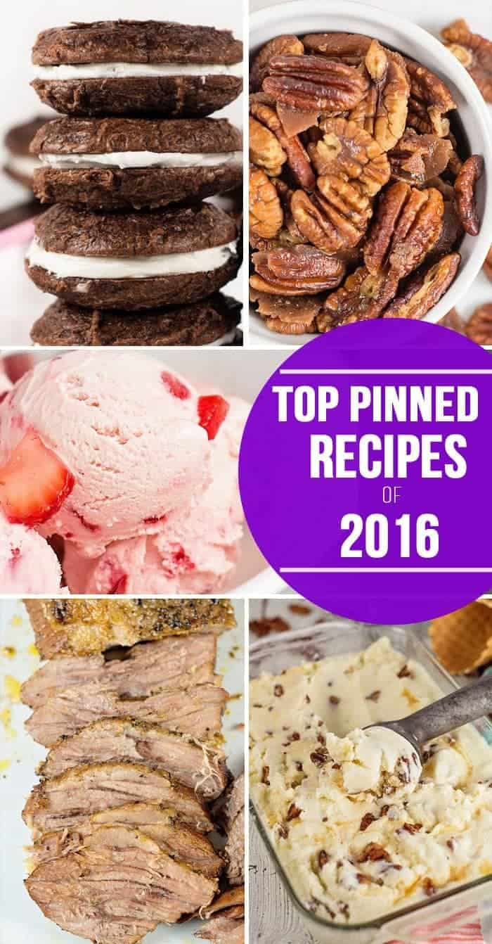Top Pinned Recipes of 2016