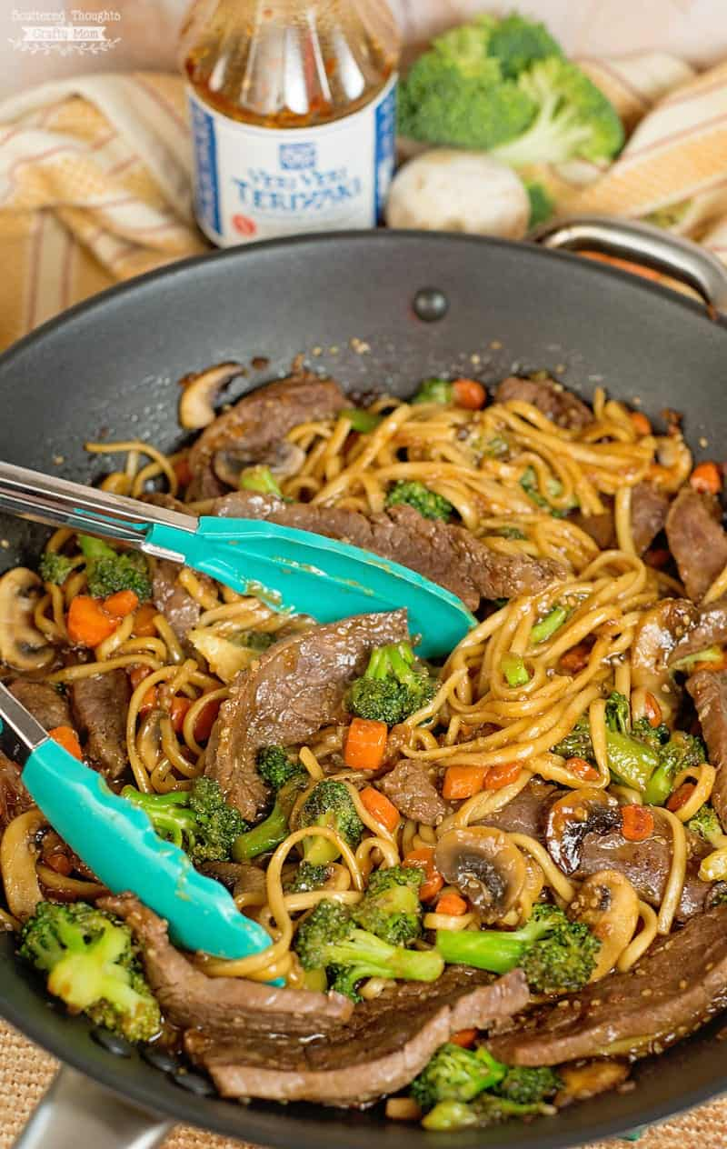 This super yummy Teriyaki Beef and Broccoli recipe is so easy to make and perfect for busy nights! With just a couple of ingredients and 25 minutes, you can have this better-than-takeout Asian inspired meal on the table, and your entire family will rave about it!