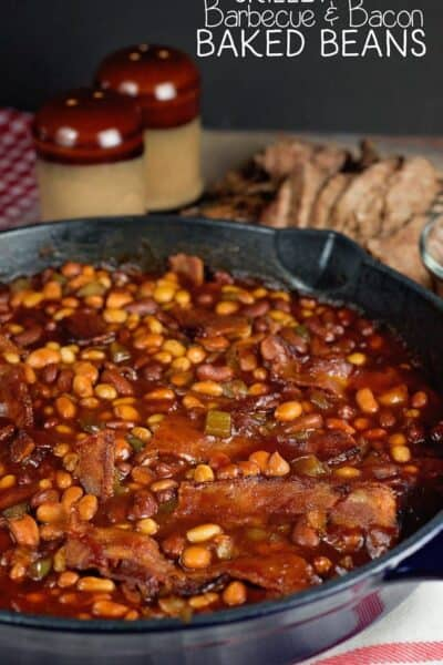 The Best Skillet Barbecue Baked Beans with Bacon Recipe Ever!