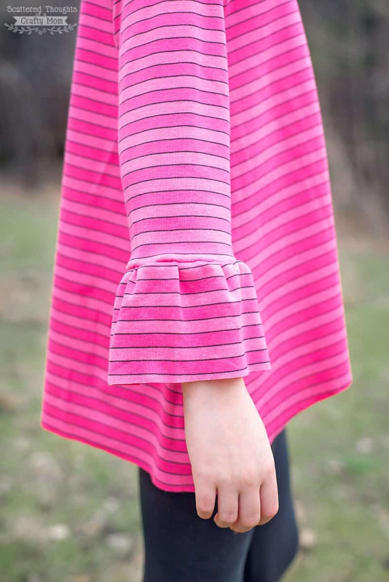 How to sew a Bell Sleeve. (free pattern)