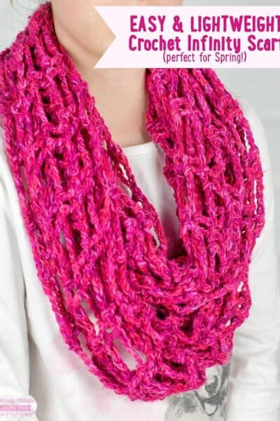 Lightweight Crochet Infinity Scarf (perfect next-step project for beginners!)