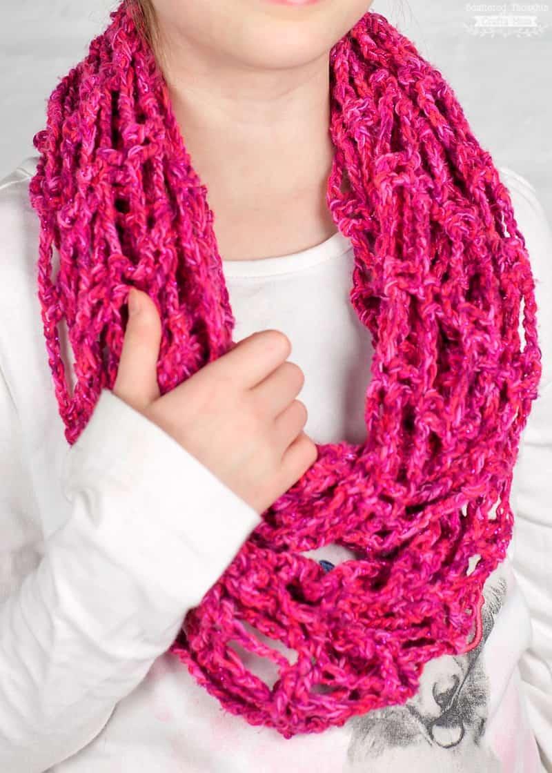 Lightweight Crochet Infinity Scarf Perfect Next Step