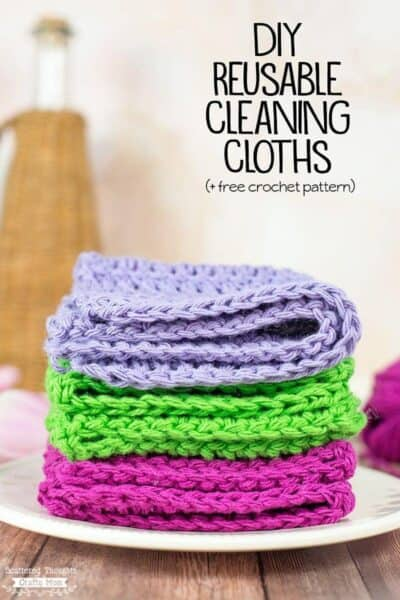 DIY Reusable Cleaning Cloths (+ Free Crochet Pattern)