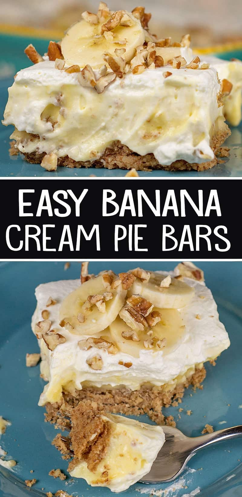 Easy Banana Cream Pie Bars