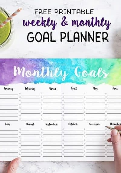 5 Tips for Staying Motivated to Reach Your Goals (+ free weekly/monthly goal printable)