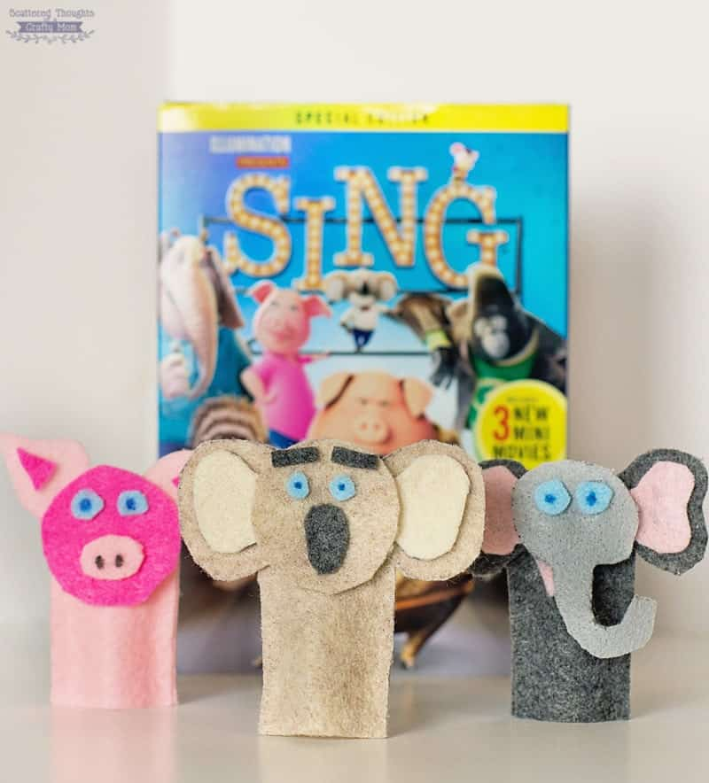 How to make These SING Character inspired Felt Finger Puppets (free printable template included)