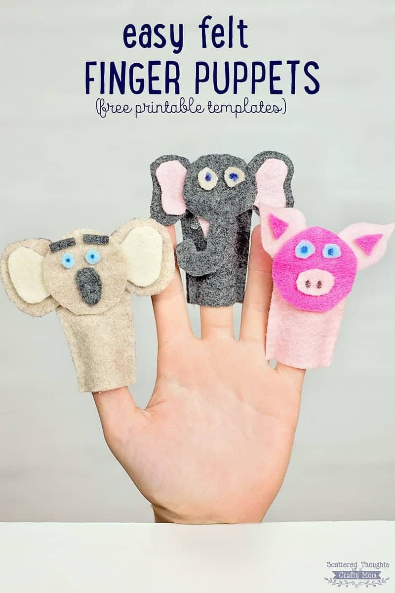 picture regarding Free Printable Felt Craft Patterns identified as How in direction of Deliver Felt Finger Puppets (crafts for children