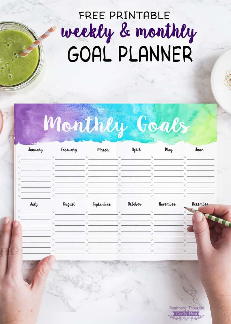 5 Tips for Staying Motivated to Reach Your Goals (+ free printable weekly/monthly goal planner.)