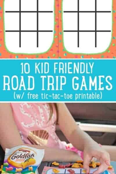 Tic Tac Toe Road Trip Game Printable (+ 9 more road trip game ideas)