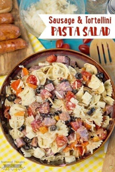 Sausage and Tortellini Pasta Salad Recipe