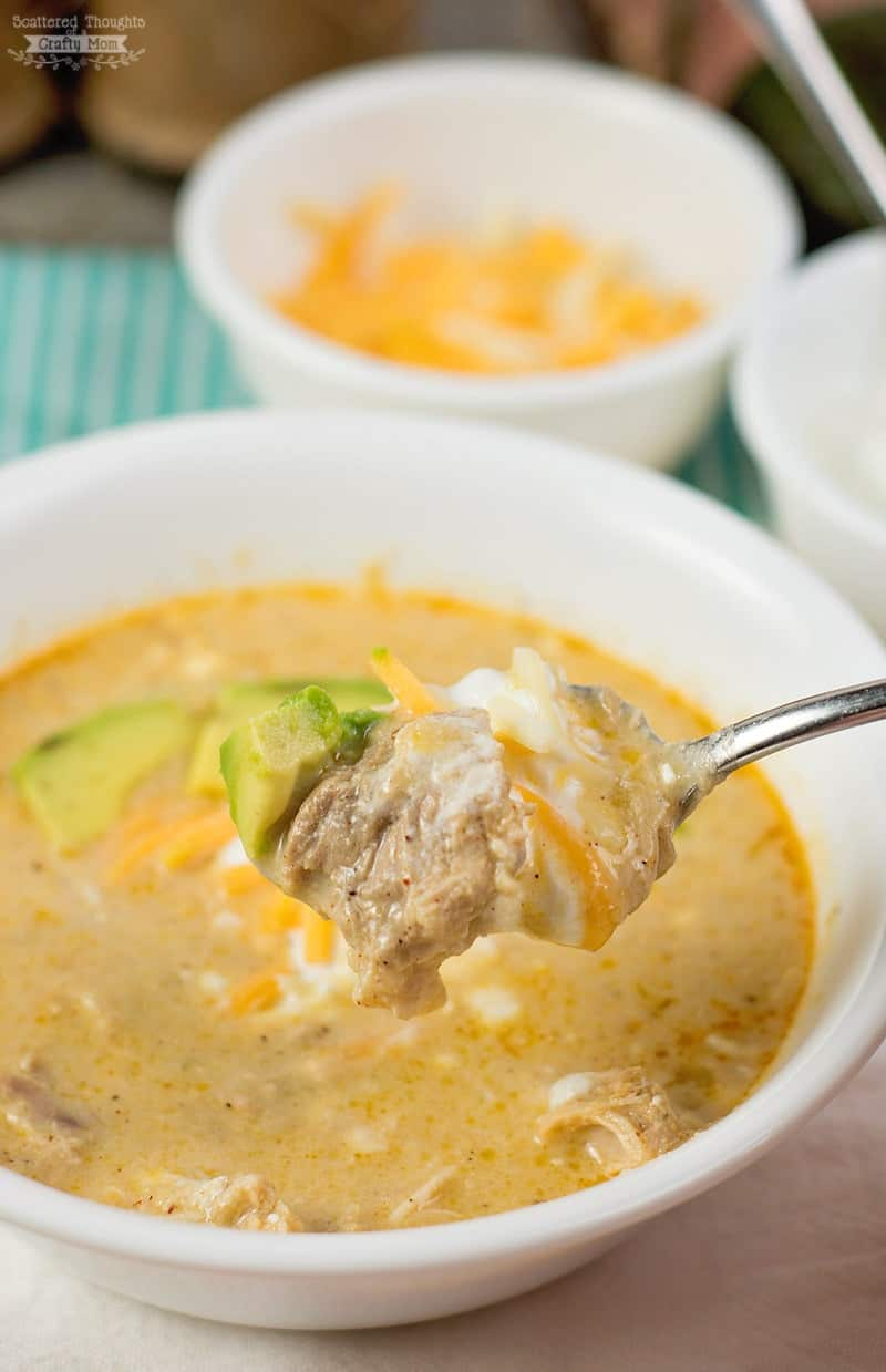 Low Carb Green Chile Enchilada Soup. Bonus: you can make it in either the pressure cooker or slow cooker!
