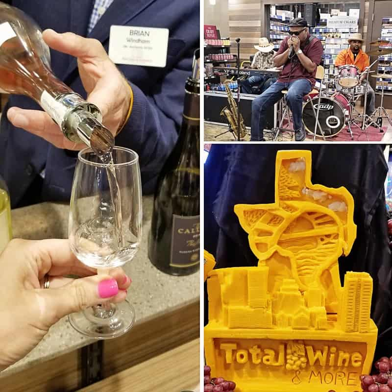 Sparkling Summer Peach Sangria plus the Total Wine and More grand opening event.