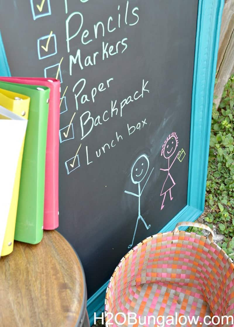 DIY Chalkboard from h2obungalow.com