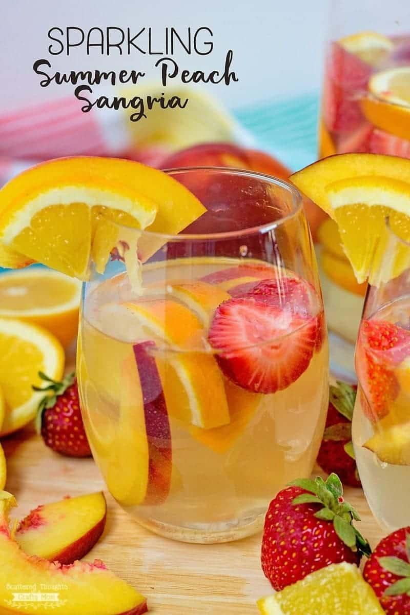 Sparkling Summer Peach Sangria