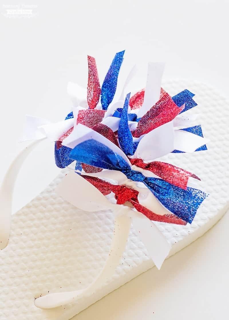 Ribbon Embellished Flip Fliops