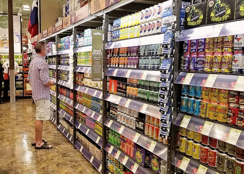 texas craft beer selection