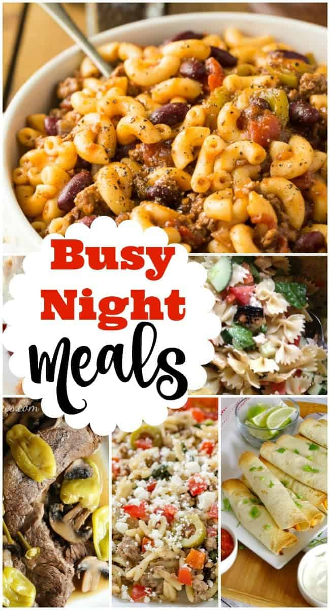 Busy Weeknight Meals