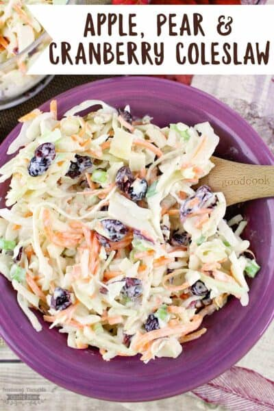 Apple, Pear and Cranberry Coleslaw Recipe