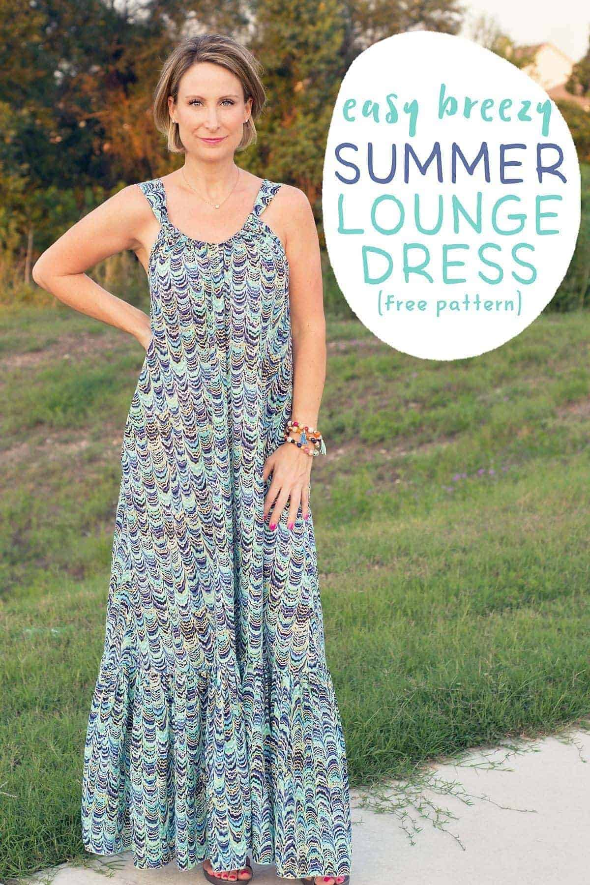 f6d6809a31d19 Easy Breezy Summer Lounge Dress Pattern and Tutorial