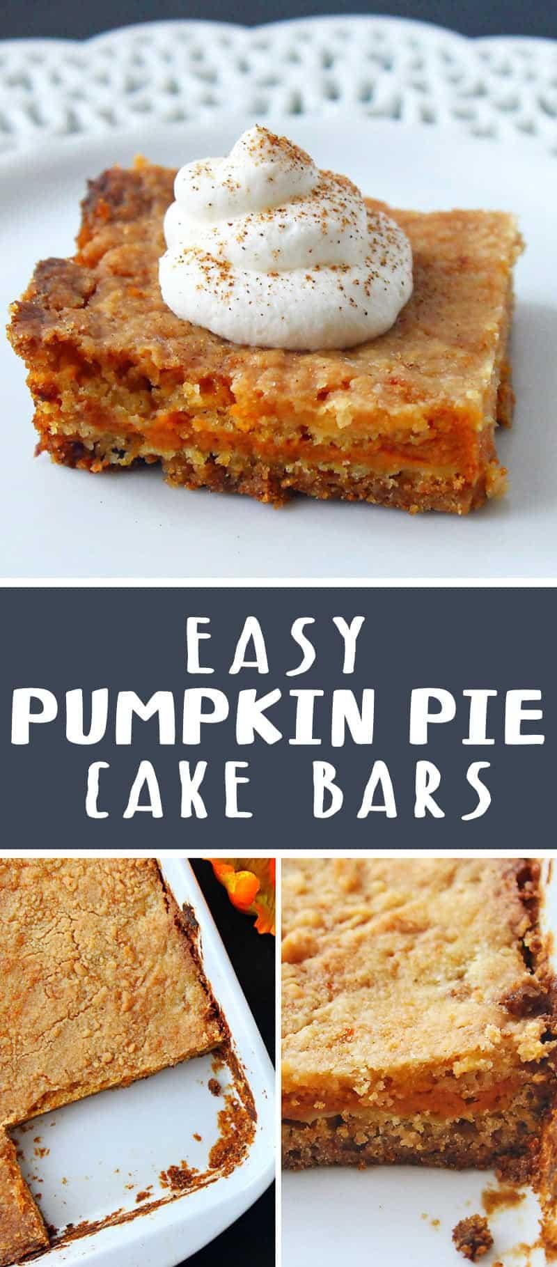 Easy Pumpkin Pie Cake Bars