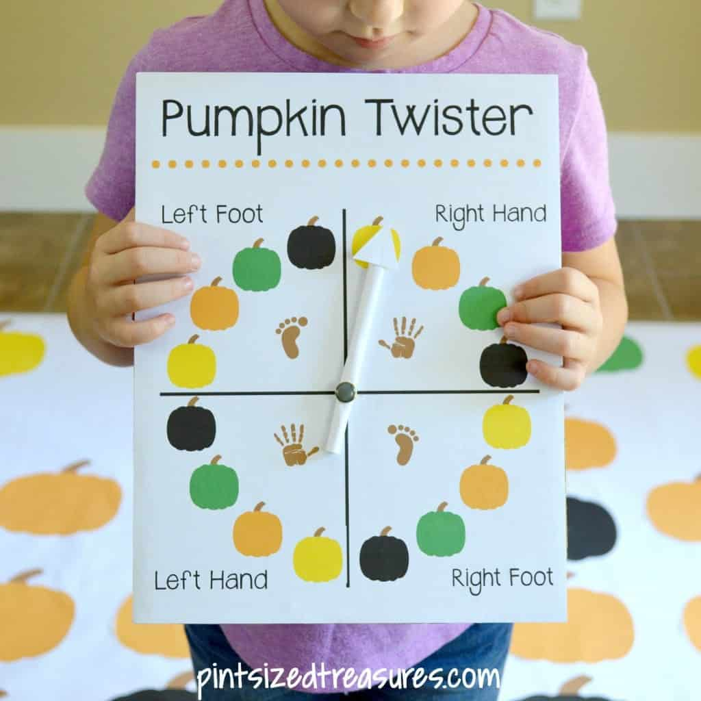halloween games for kids - diy twister