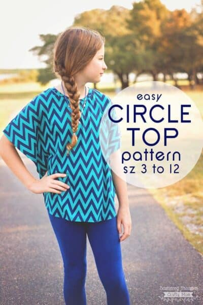 Easy Circle Top Pattern for girls, sz 3 to 12